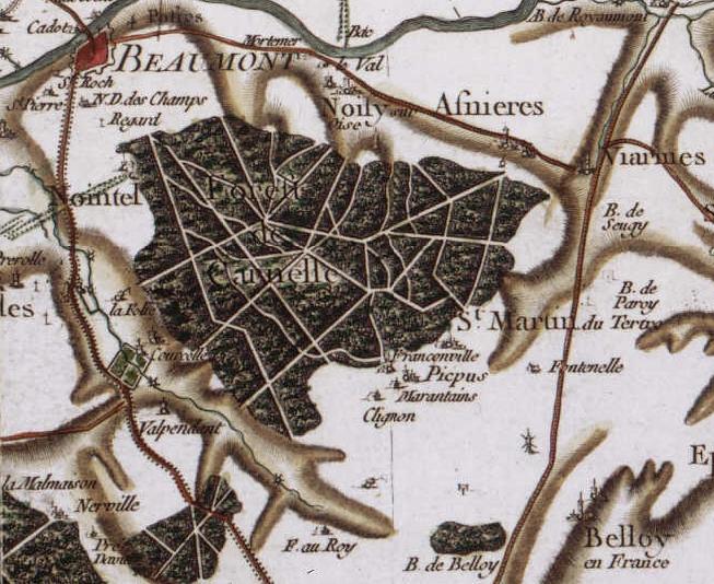 Forêt_de_Carnelle-Carte_de_Cassini1
