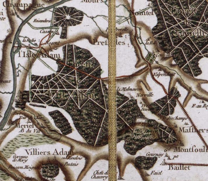 Forêt_de_LIsle-Adam-Carte_de_Cassini
