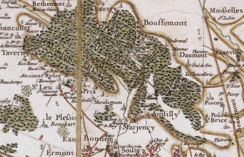 Forêt_de_Montmorency-Carte_de_Cassini