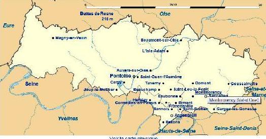 carte générale du Val-d'Oise