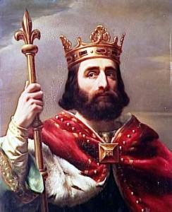 Pépin le Bref est sacré roi des Francs, roi des Francs et de Patrice des Romains
